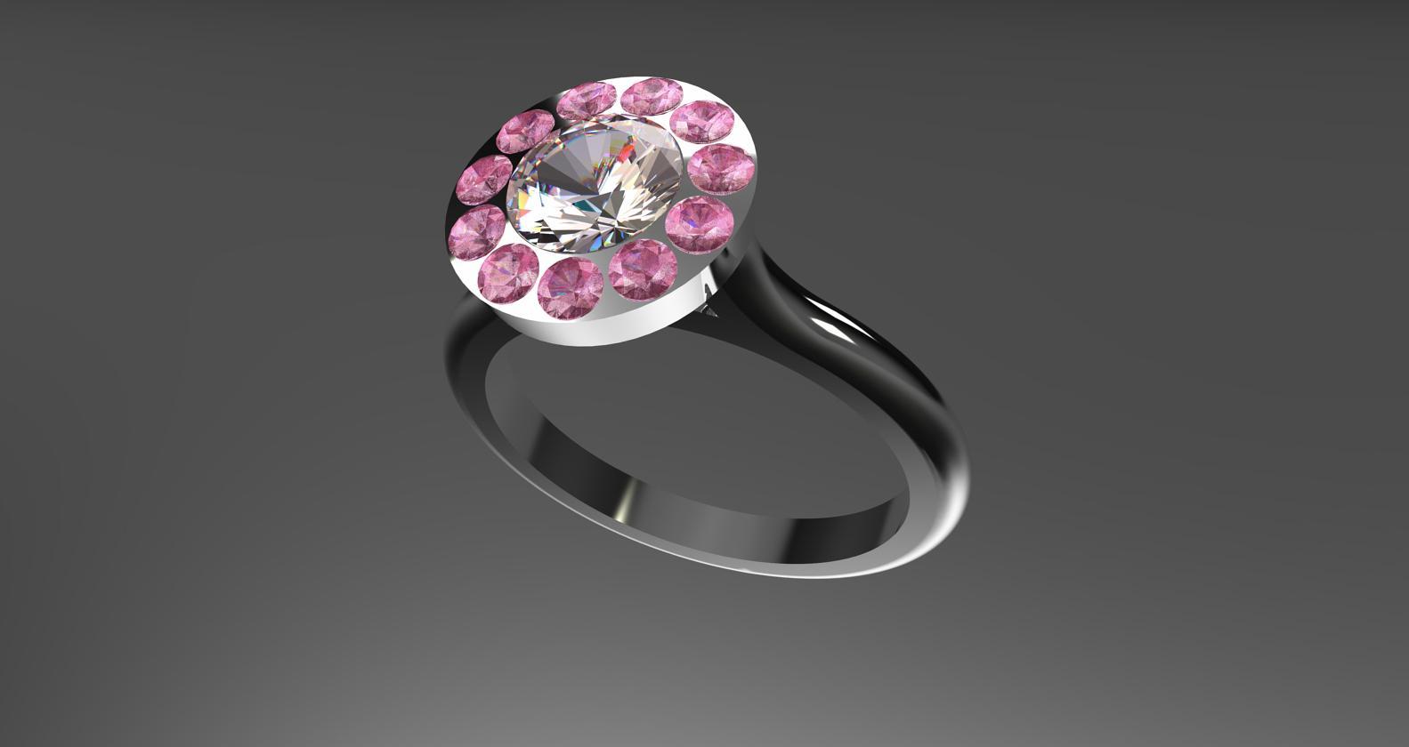 diamond and sapphire pav  .