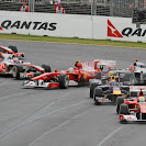 First corner collisions 2010 Australian F1 GP