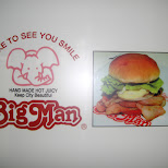 big man burger - I like to see you smile - hand made hot juicy - keep city beautiful in Osaka, Osaka, Japan