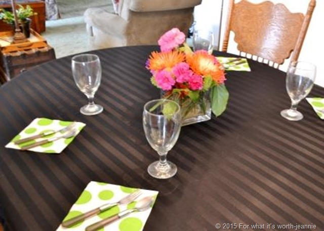 luncheon table flowers