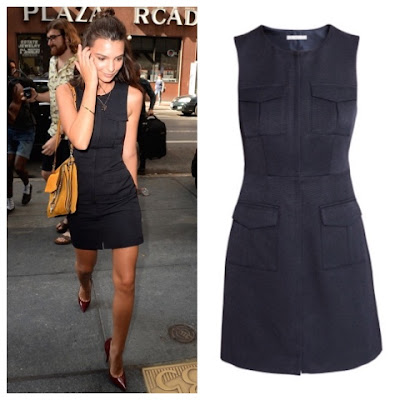 August 19 promoting We Are Friend in The Today Show in dark blue H&M shift dress with pockets