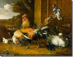 follower-of-hondecoeter-melchi-geflugel-mit-hahn-huhn-kucken-2846818