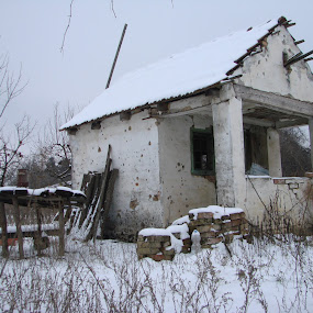 Decayed House inWinter by Ivan Mendes - Buildings & Architecture Decaying & Abandoned