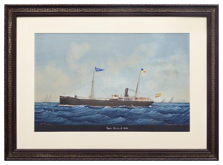 Vapor CORREO DE CETTE. Pintura de J. Pineda. Museu Maritim de Barcelona. Nuestro agradecimiento a Silvia Dahl.jpg