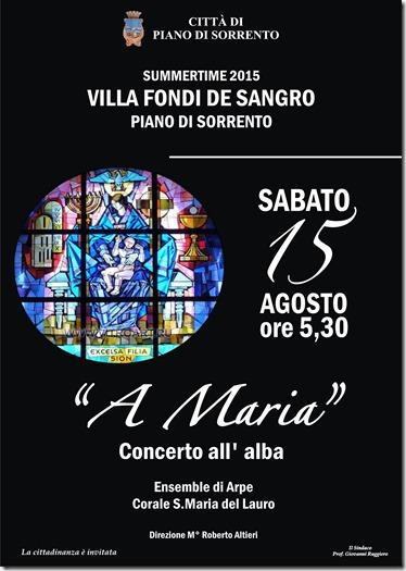 Manifesto - Concerto all'alba 15 agosto 2015 Piano di Sorrento