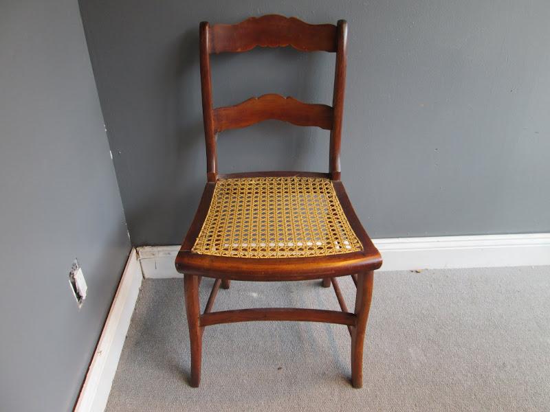 Cane Ladderback Siade Chair