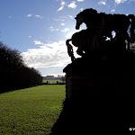 Parc : chevaux d'Apollon et perspective