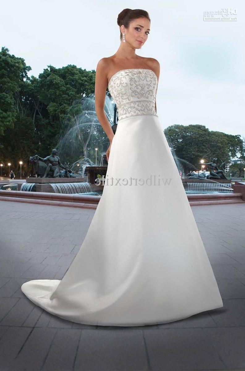 Wholesale - Vintage Wedding Dress elegant Beading Modest Taffeta Dresses