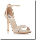 Dune ankle strap nude sandal