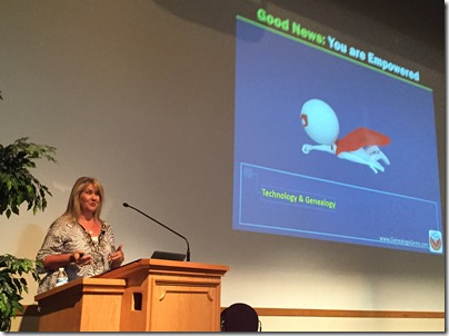 Lisa Louise Cooke spoke at the 2015 BYU Conference on Family History and Genealogy.