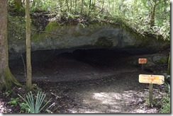 View of tunnel cave