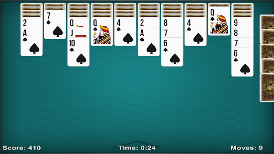 Solitaire Spider HD - screenshot