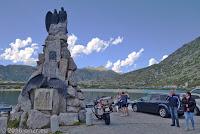Auf dem Scheitel des San Gotthard beim Lago della Piazza.