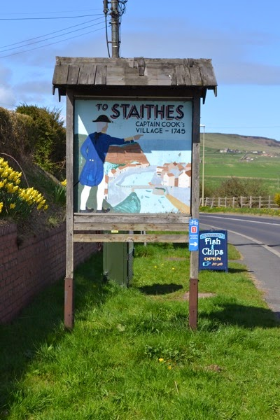 Staithes Sign