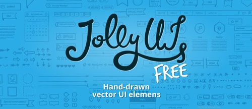 Jolly UI Free Hand-Drawn vector UI elements