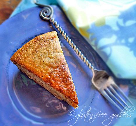 Gluten free peanut butter banana cake
