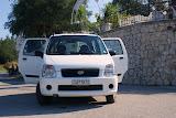 Onze huurauto (Suzuki Wagon R+).
