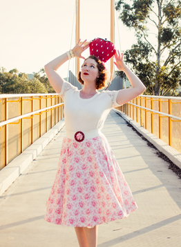 1950's spring style ~ kitch and cute with strawberries and roses | Lavender & Twill