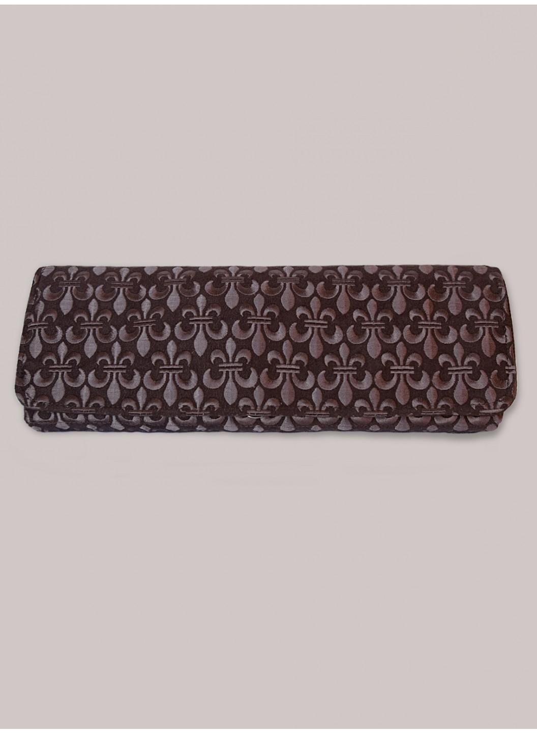 Claire Clutch in Dark Taupe