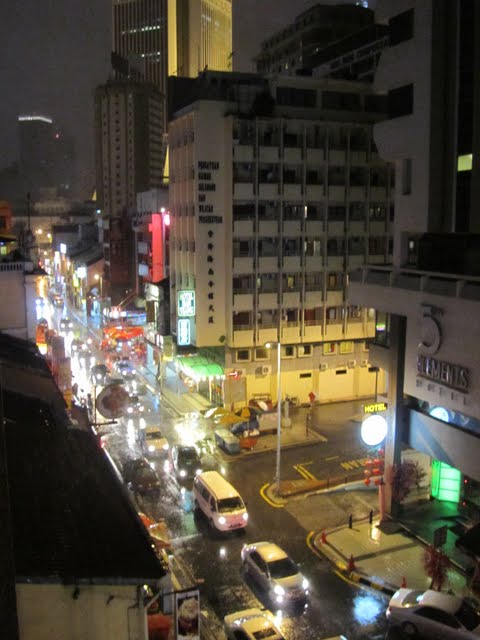 view from and around Backpacker Travellers Inn in China town, KL