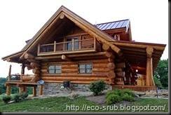 дом из дикого бруса