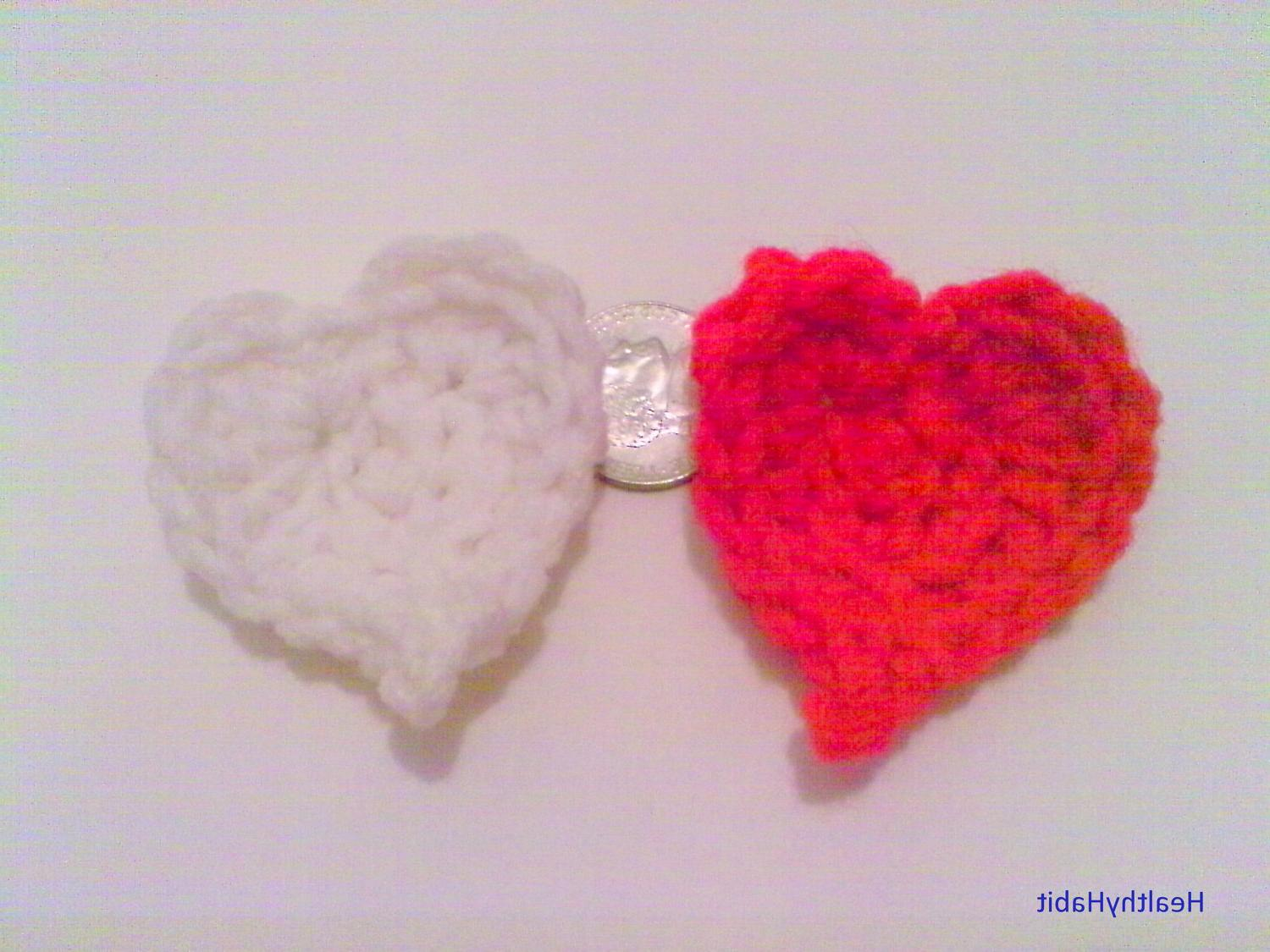 Custom Wedding Hearts Set - Wedding Colors, Acrylic yarn, Small Hearts,