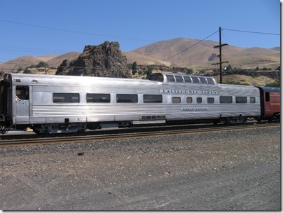 IMG_7763 Chicago, Burlington & Quincy 'California Zephyr' Dome Coach 'Silver Lariat' in Wishram, Washington on July 3, 2009