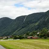 Nabij de staafkerk van Vikøyri.