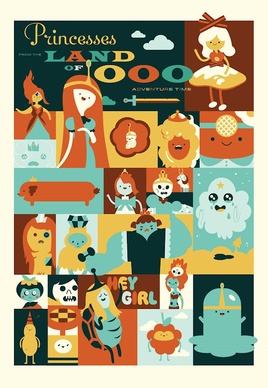Adventure Time Princess Poster by Misty Manley