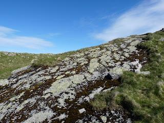 Slab near Middle Fell summit