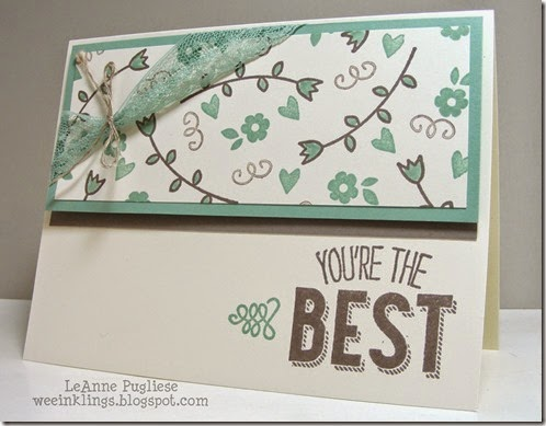 LeAnne Pugliese WeeInklings Friendly WIshes Stampin Up