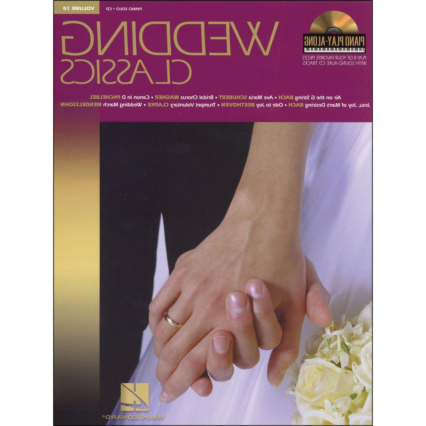 Hal Leonard Wedding Classics Book CD Volume 10 Piano Play Along arranged for