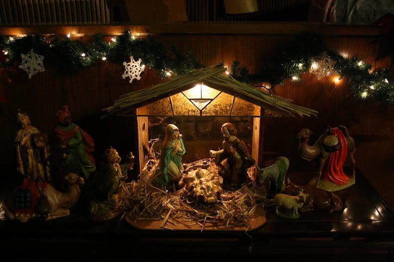 Manger at Christmas