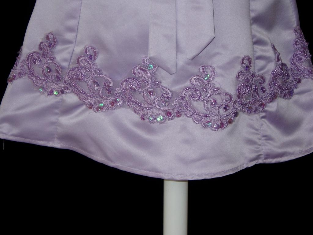 Tiaras - Chinese Dresses - Cinda Lilac Satin Wedding Party Bridesmaid