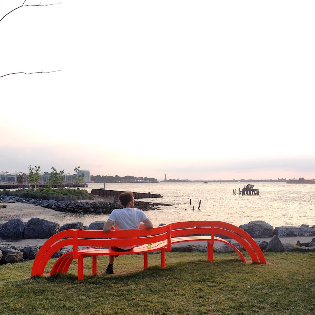 Modified Social Benches, Jeppe Hein, Please Touch the Art, Brooklyn Bridge Park, New York