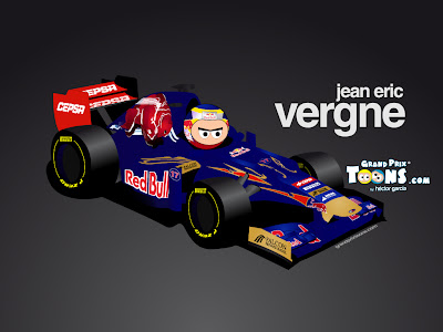 Жан-Эрик Вернь Toro Rosso STR7 Grand Prix Toons 2012
