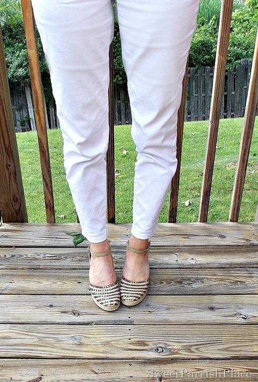 white jeans, espadrilles