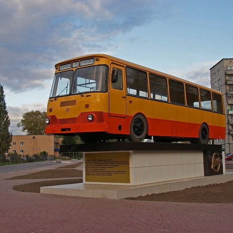 The Monument to Russia's Favorite Bus LiAZ-677