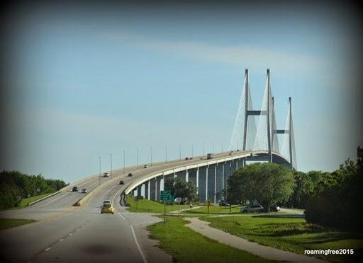 That is one TALL bridge!