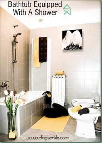 pops of color in small bathroom