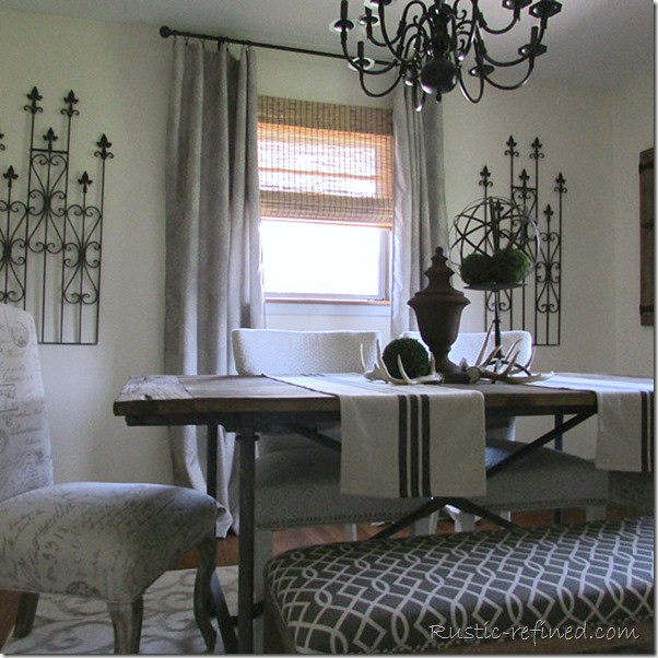 Industrial Rustic Dining Room Tour