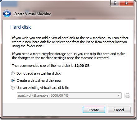 ASMCA Disk Groups Hard Disk