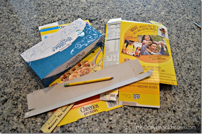 Supplies for Tissue Box Cover