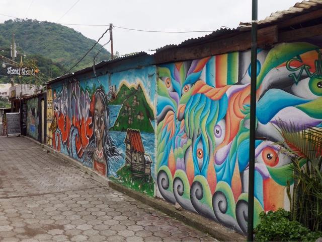 Street art in San Pedro La Laguna, Guatemala