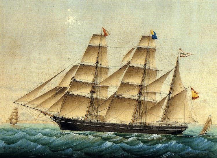 El bricbarca ANIBAL. Acuarela de Jose Pineda. Del libro Jose Pineda. 1837-1904. La Pintura de Barcos Españoles en el Siglo XIX.JPG