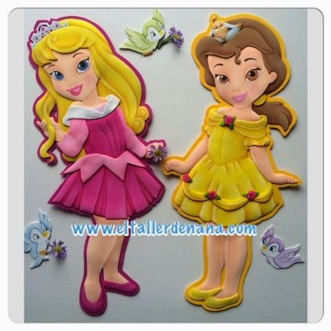 El Taller de Nana: Princesas de Disney Aurora y Bella en foami