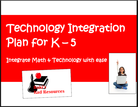 Math and technology integration matrix - free download from Raki's Rad Resources.