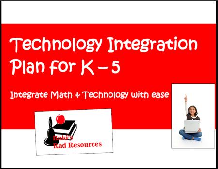 Math and technology integration matrix - free download from Raki's Rad Resources.