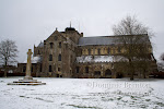 Romsey Abbey in the snow