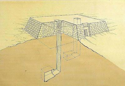 Esquema del interior de una mastaba.
